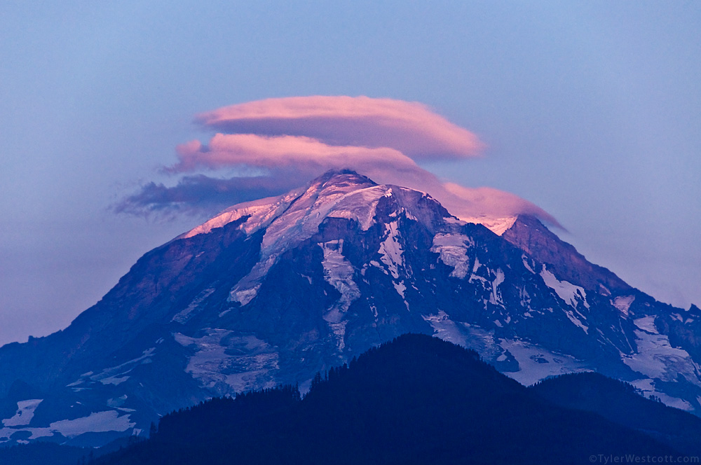 Lenticular Sunset, Mount Rainier National Park
