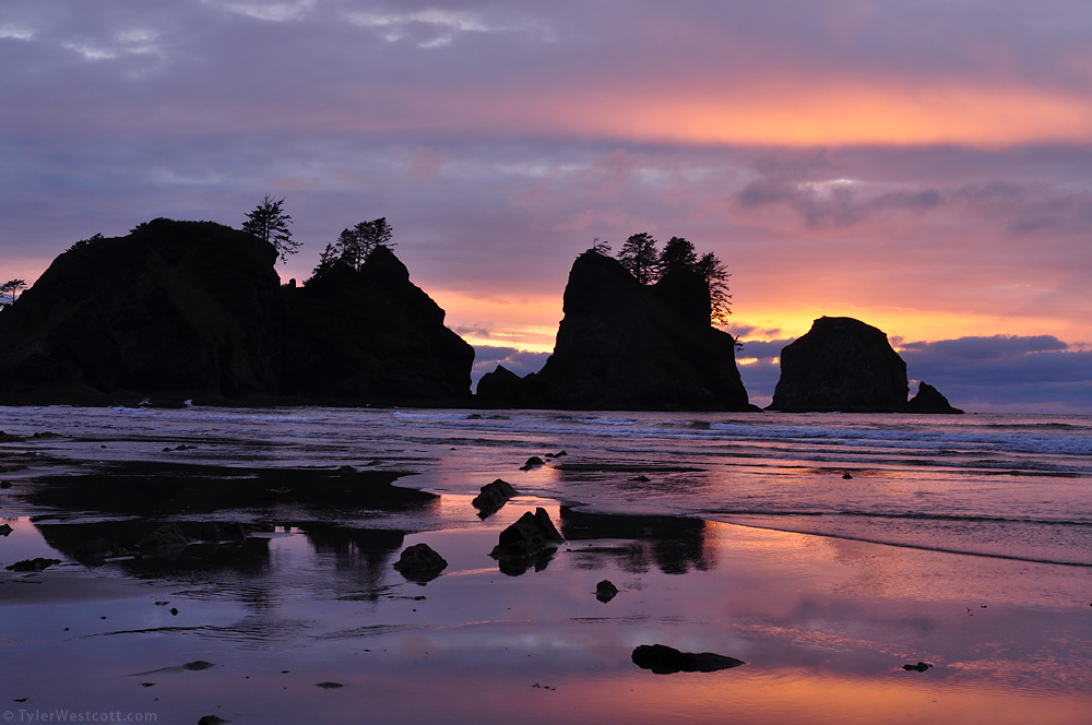 Sunset Colors, Shi-Shi Beach, Olympic National Park