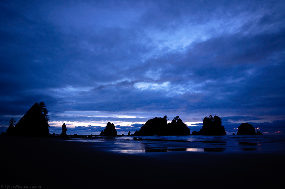 Shi-Shi Beach, Twilight, Olympic National Park