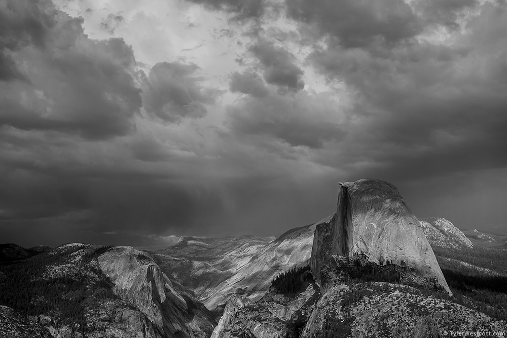 Clouds over Half Dome, Yosemite National Park
